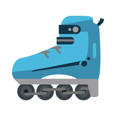 rollerblades: rollerblades sports related icon image vector illustration design