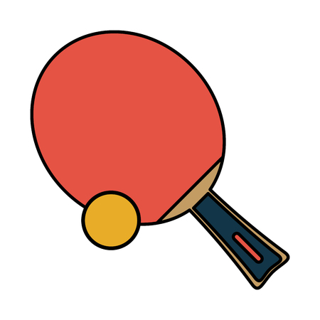 race winner: tennis table paddle and ball sports related icon image vector illustration design Illustration