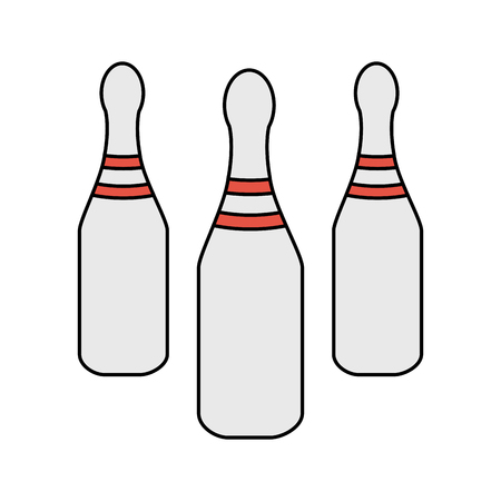 race winner: bowling pins sports related icon image vector illustration design Illustration