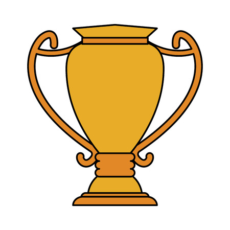 race winner: trophy cup sports related icon image vector illustration design