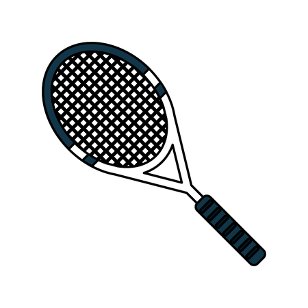 tennis racquet sports related icon image vector illustration design