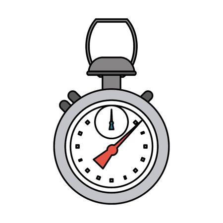 analog chronometer sports related icon image vector illustration design