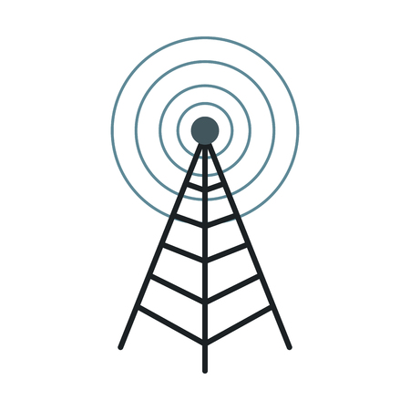 antenna mast sign tower communication transmitter vector illustration