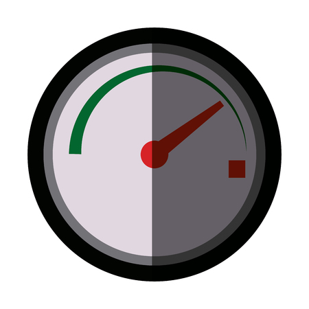 tachometer speedometer and indicator measurement symbol vector illustration