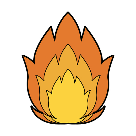 featuring a camp fire burning brightly design vector illustration