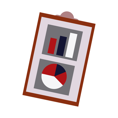 financial report business clipboard with financial data charts graphs vector illustration Illustration
