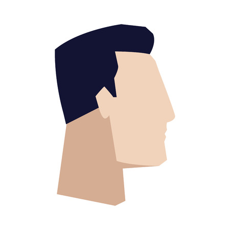 business man side view office worker manager vector illustration