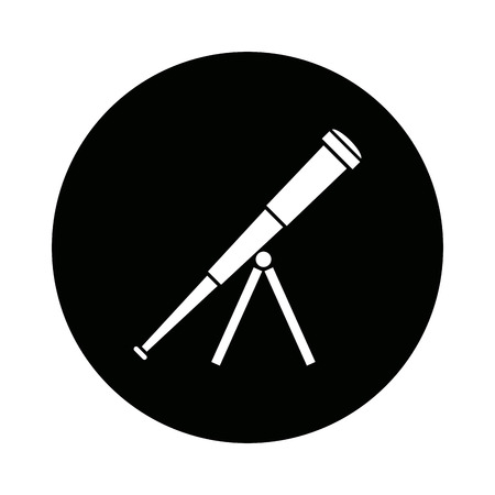 telescope business searching smart vision for good future vector illustration
