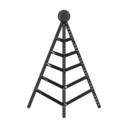 Antenna mast sign for tower communication transmitter vector illustration