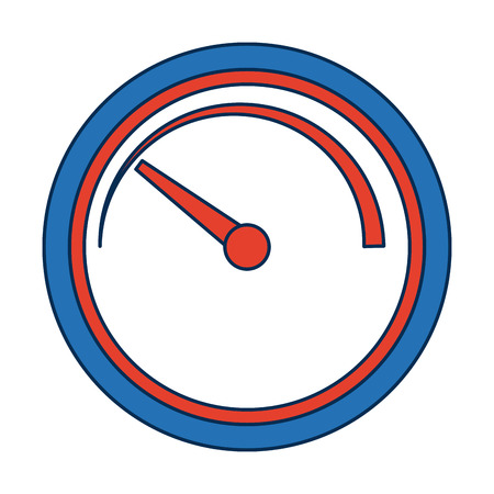 Speedometer and indicator, performance measurement symbol vector illustration