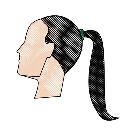 Zakenvrouw avatar profiel foto vrouwelijke vector illustratie