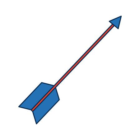 arrow targeting exact business concept goal achievement vector illustration