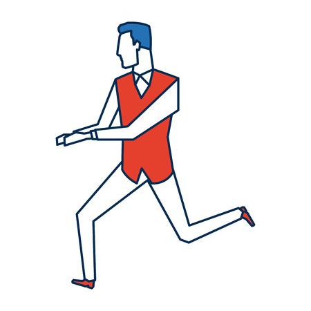 businessman running energetic dynamic concept vector illustration