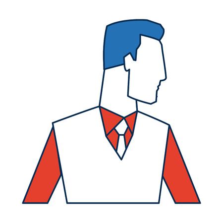 portrait of businessman success work office vector illustration