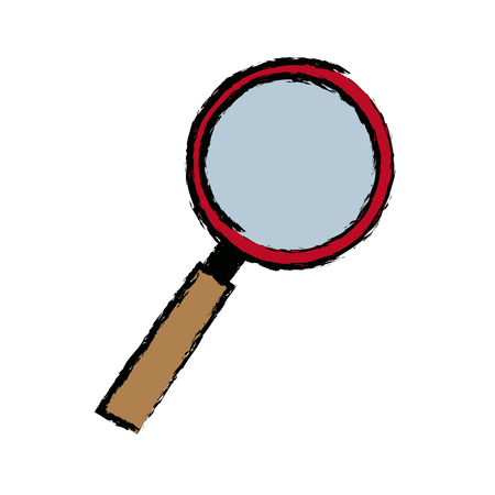 magnifying glass checkered business instrument vector illustration