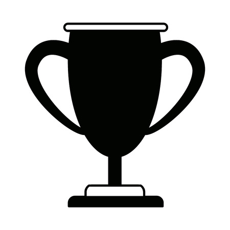 trophy business for the first position winner vector illustration