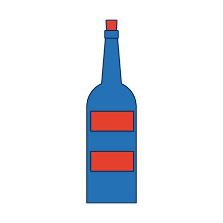 wine bottle drink alcohol beverage vector illustration