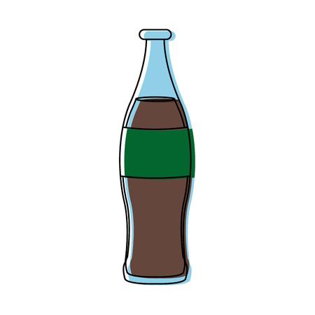 beverage cola soda carbonated drink bottle vector illustration
