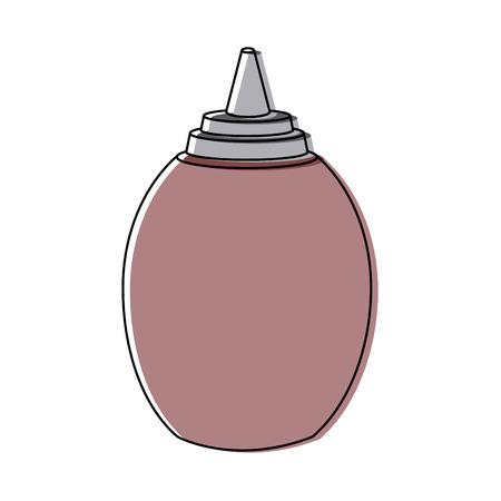 sauce bottle eating spice fast food vector illustration