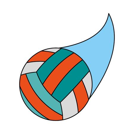 volleyball ball icon image vector illustration design