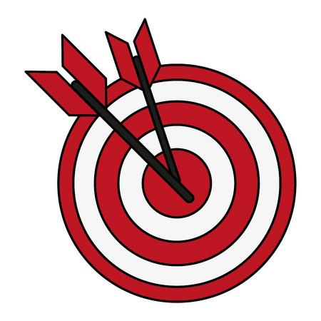 excellence: bullseye with dart icon image vector illustration design Illustration