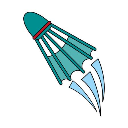 shuttlecock badminton sport icon image vector illustration design Illustration