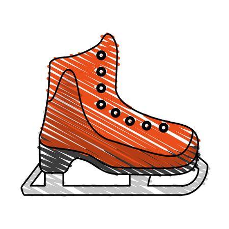 ice skate icon image vector illustration scribble