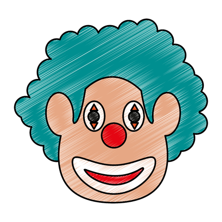 clown face icon image vector illustration scribble Illustration