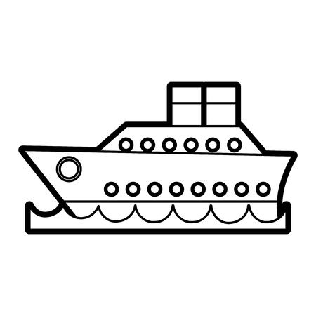 cruise ship icon image vector illustration paint Illustration