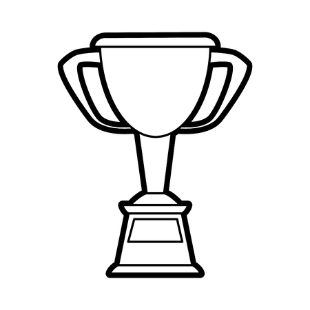 trophy cup prize or award icon image vector illustration paint