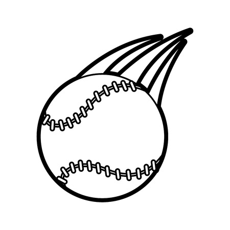 fast pitch: baseball ball icon image vector illustration paint
