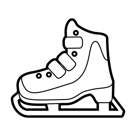 ice skate icon image vector illustration paint