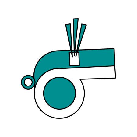 Diseño de ilustración de vector de imagen de icono de silbato aislado Foto de archivo - 83603965