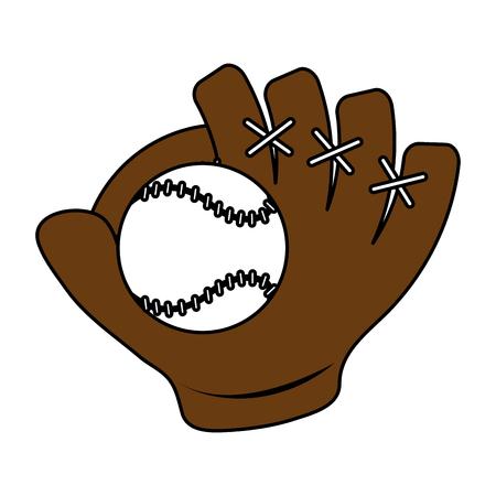 baseball glove icon image vector illustration design