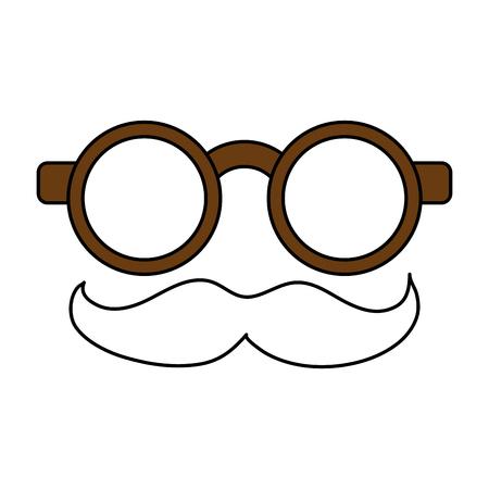 humorous: groucho marx glasses funny or joke item icon image vector illustration design