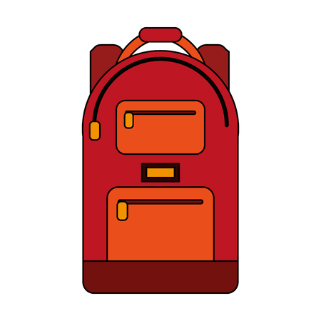 school backpack icon image vector illustration design