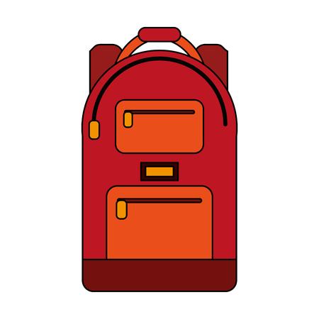School rugzak icoon afbeelding vector illustratie ontwerp