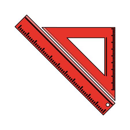 ballpen: ruler school supply icon image vector illustration design