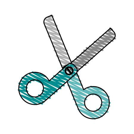 scissors school supply icon image vector illustration scribble Illustration
