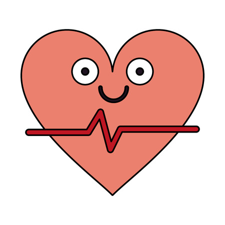 insured: heart cardiogram healthcare related icon image cartoon character vector illustration design Illustration