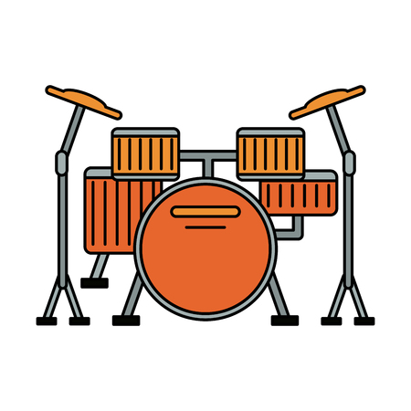 drum set musical instrument icon image vector illustration design