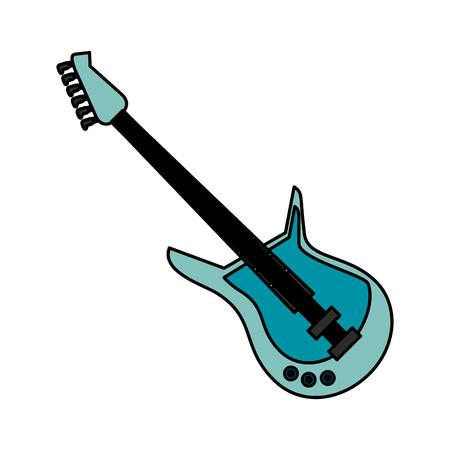 guitar musical instrument icon image vector illustration design