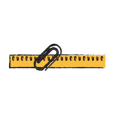 millimeters: triangle ruler icon image vector illustration design