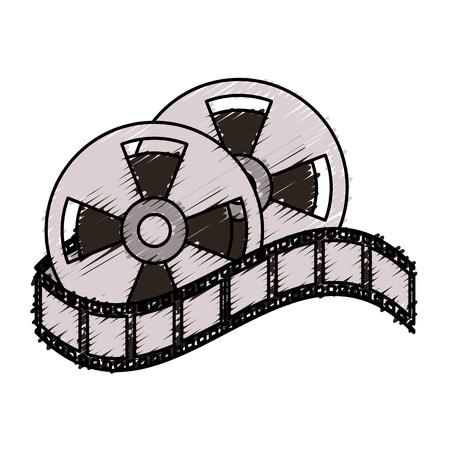 Cine Para Colorear Ilustración Del Arte Línea De Libro De Diseño
