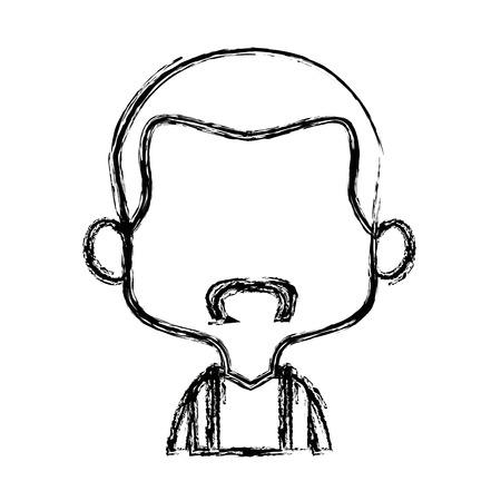character man male portrait  people vector illustration Illustration