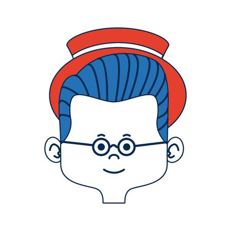 cartoon man face avatar character male cute