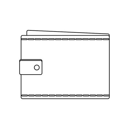 Portemonnee leeg geld zakelijke zak pictogram vector illustratie
