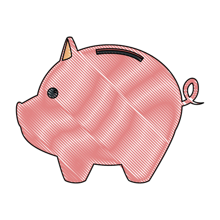 piggy bank saving or accumulation of money investment business vector illustration