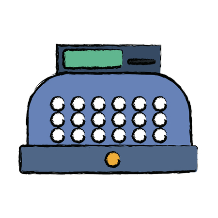 cash register equipment for the shop vector illustration