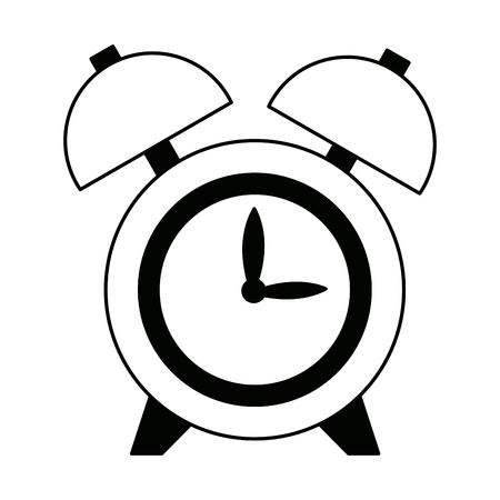 sleeper: clock alarm hour round bell time vector illustration